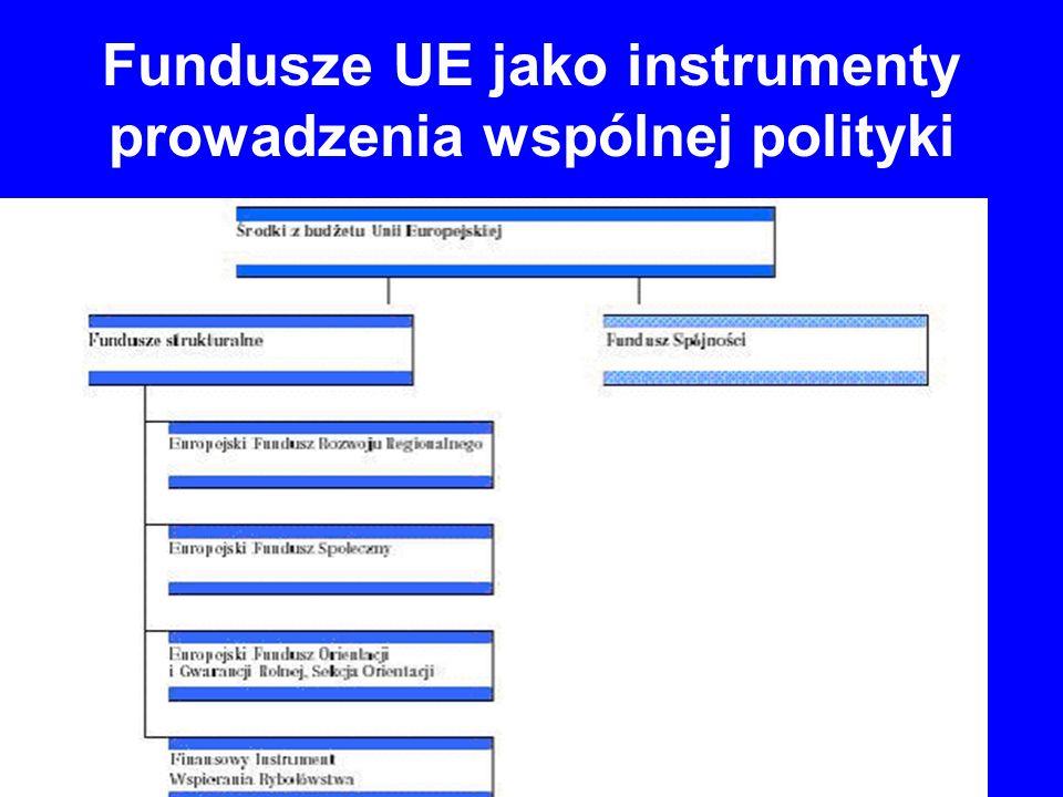 Fundusze UE jako instrumenty prowadzenia wspólnej polityki 4.
