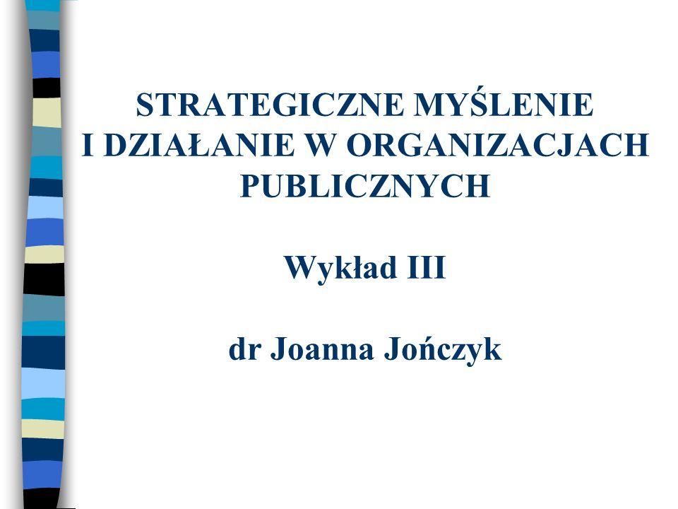 ETAPY PLANOWANIA STRATEGICZNEGO W ORGANIZACJI 1.Sformułowanie misji, 2.