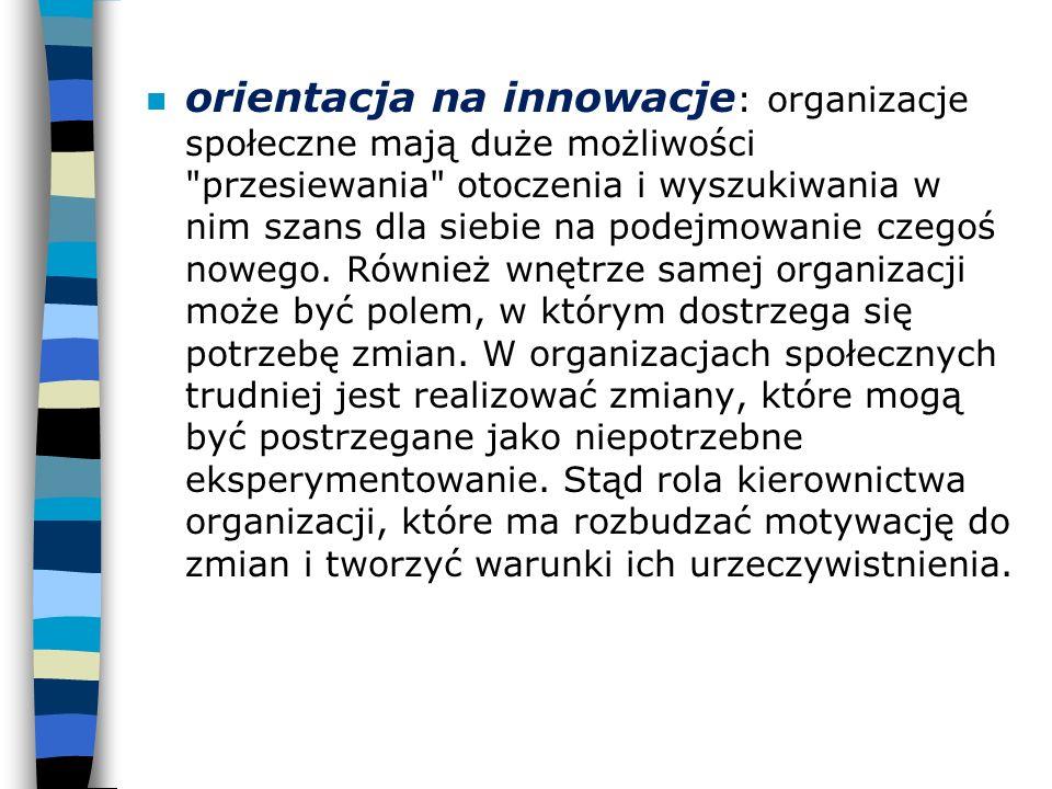 n orientacja na innowacje : organizacje społeczne mają duże możliwości