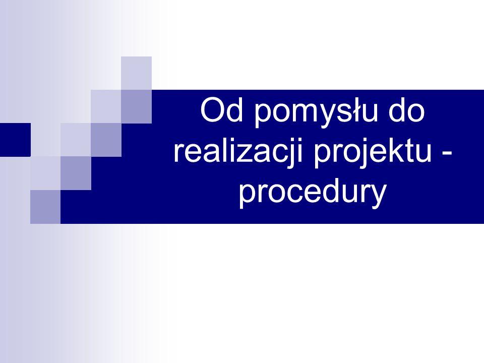 Od pomysłu do realizacji projektu - procedury