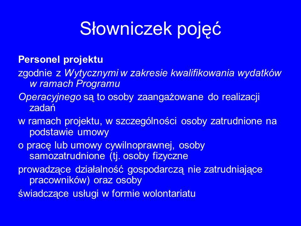 Słowniczek pojęć Instytucja Pośrednicząca zgodnie z art.