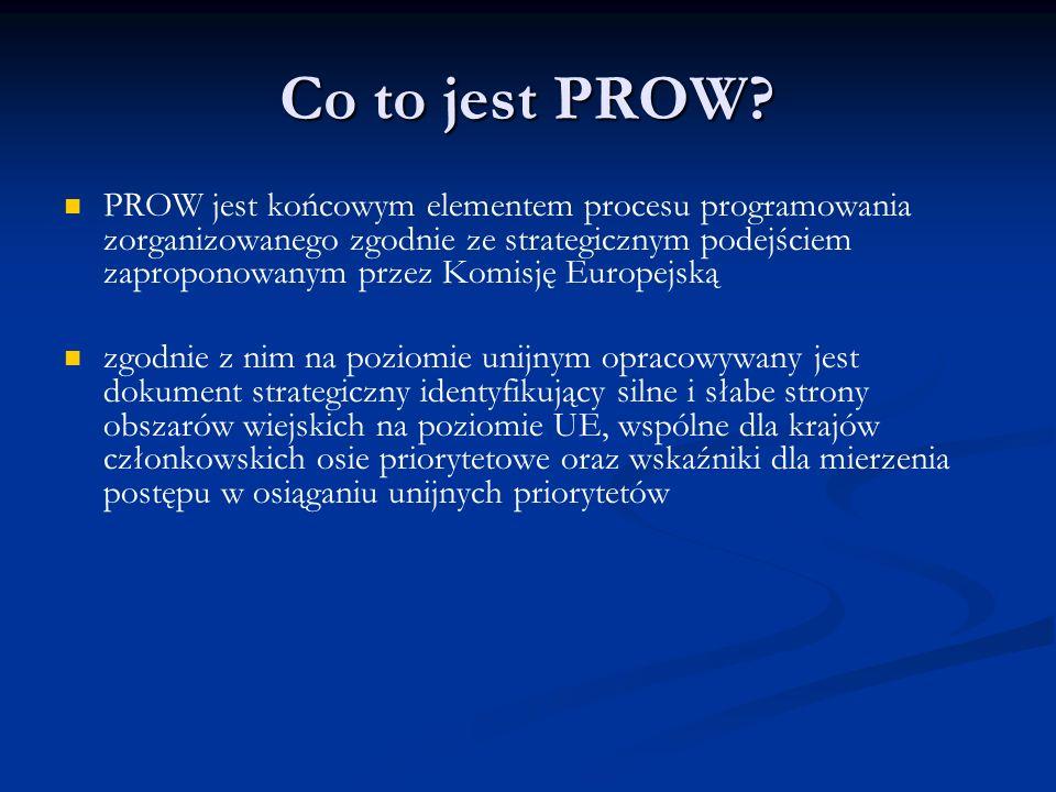 Co to jest PROW? PROW jest końcowym elementem procesu programowania zorganizowanego zgodnie ze strategicznym podejściem zaproponowanym przez Komisję E