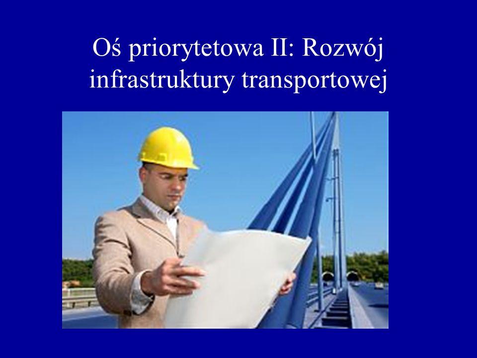 Oś priorytetowa II: Rozwój infrastruktury transportowej