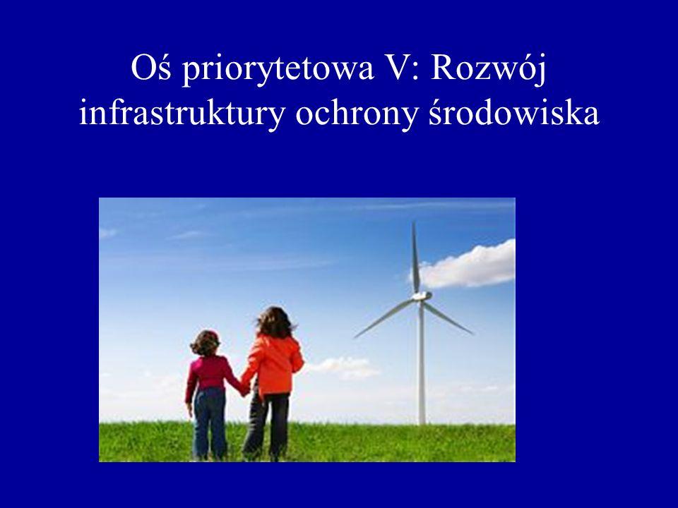 Oś priorytetowa V: Rozwój infrastruktury ochrony środowiska