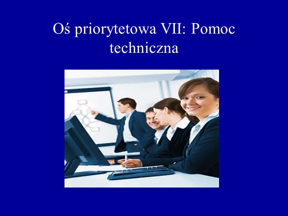 Oś priorytetowa VII: Pomoc techniczna