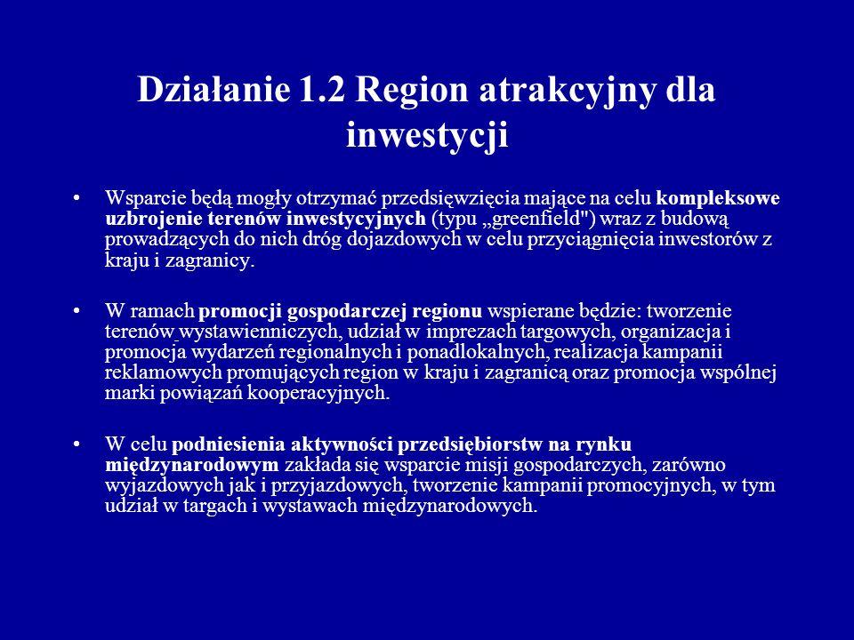 Cel główny: Podniesienie atrakcyjności inwestycyjnej regionu poprzez poprawę jakości infrastruktury społecznej.