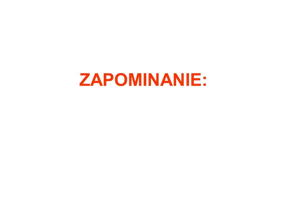 ZAPOMINANIE: