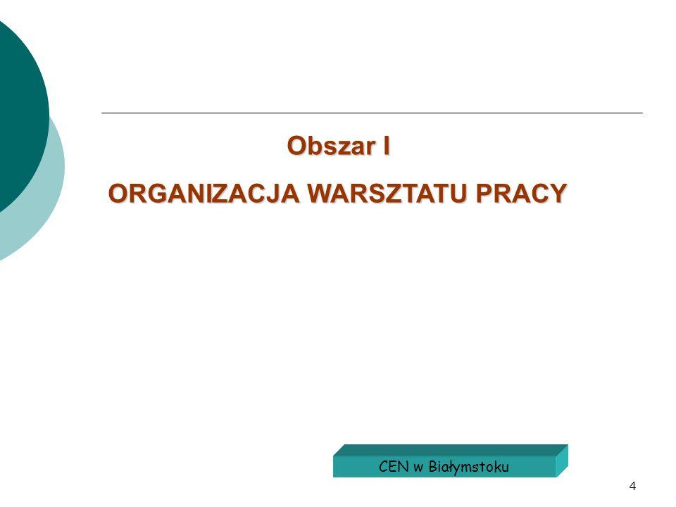 4 Obszar I ORGANIZACJA WARSZTATU PRACY CEN w Białymstoku