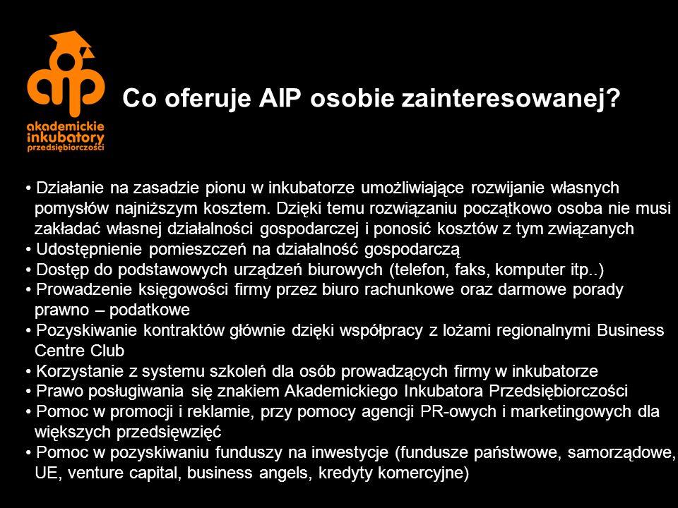 Co oferuje AIP osobie zainteresowanej.