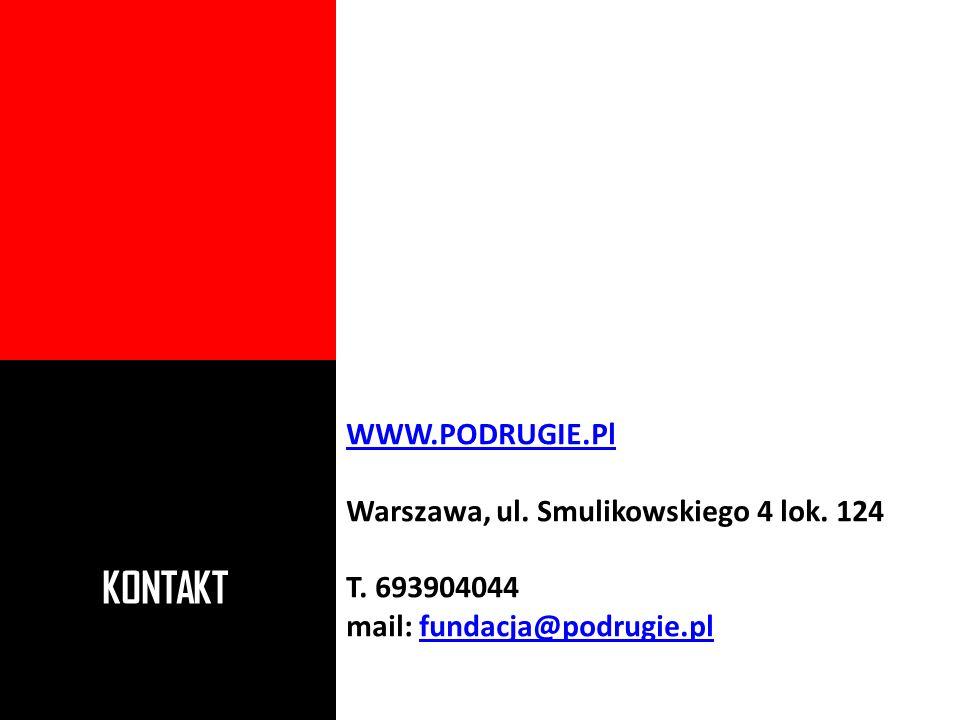 KONTAKT WWW.PODRUGIE.Pl Warszawa, ul. Smulikowskiego 4 lok. 124 T. 693904044 mail: fundacja@podrugie.plfundacja@podrugie.pl