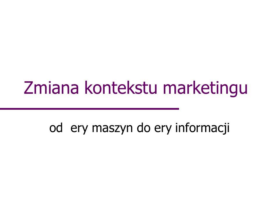 Zmiana kontekstu marketingu od ery maszyn do ery informacji