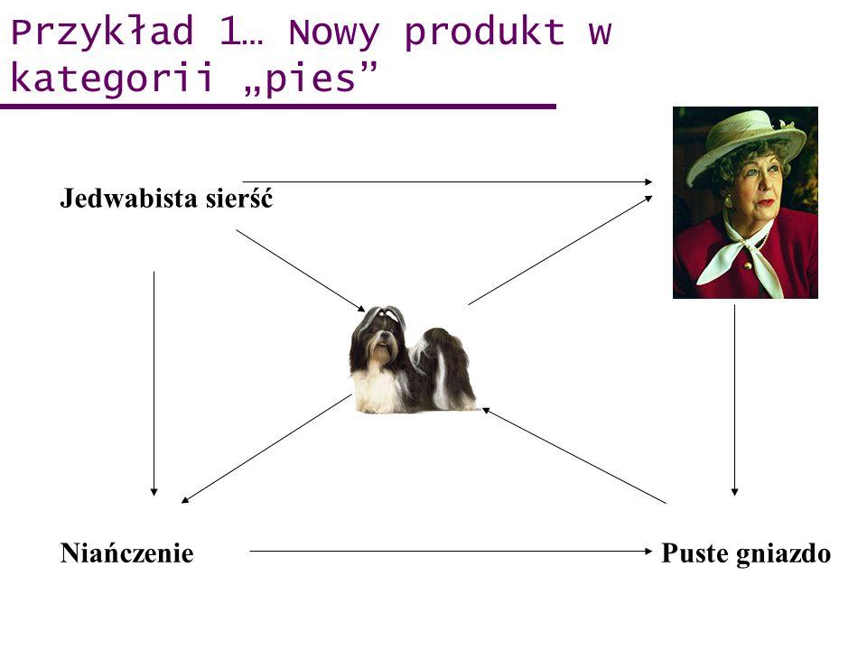Przykład 1… Nowy produkt w kategorii pies Target Puste gniazdoNiańczenie Jedwabista sierść