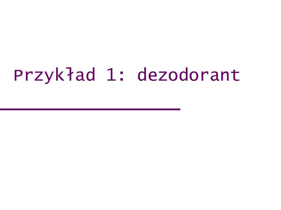 Przykład 1: dezodorant