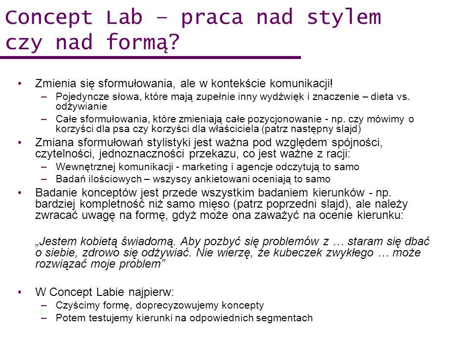 Concept Lab – praca nad stylem czy nad formą? Zmienia się sformułowania, ale w kontekście komunikacji! –Pojedyncze słowa, które mają zupełnie inny wyd