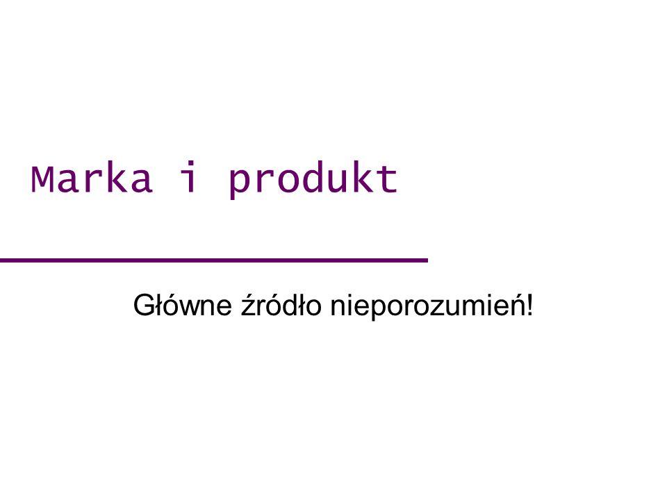 Marka i produkt Główne źródło nieporozumień!