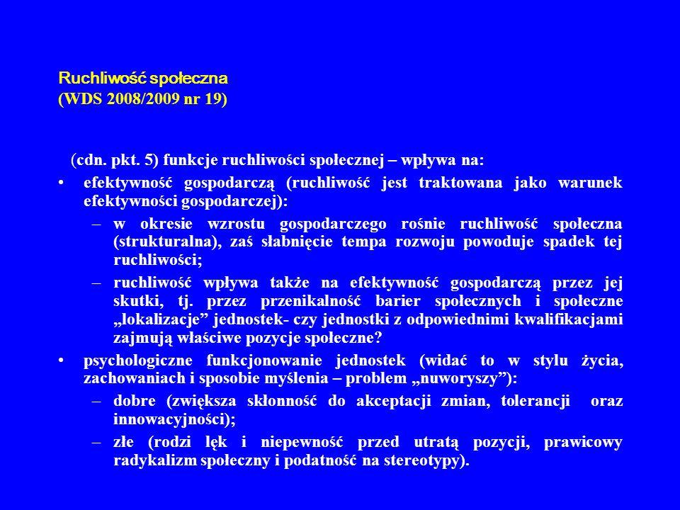 Ruchliwość społeczna (WDS 2008/2009 nr 19) 6.