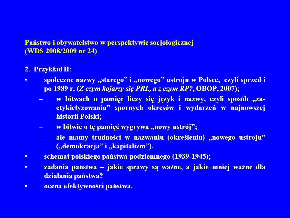 Państwo i obywatelstwo w perspektywie socjologicznej (WDS 2008/2009 nr 24) 12.