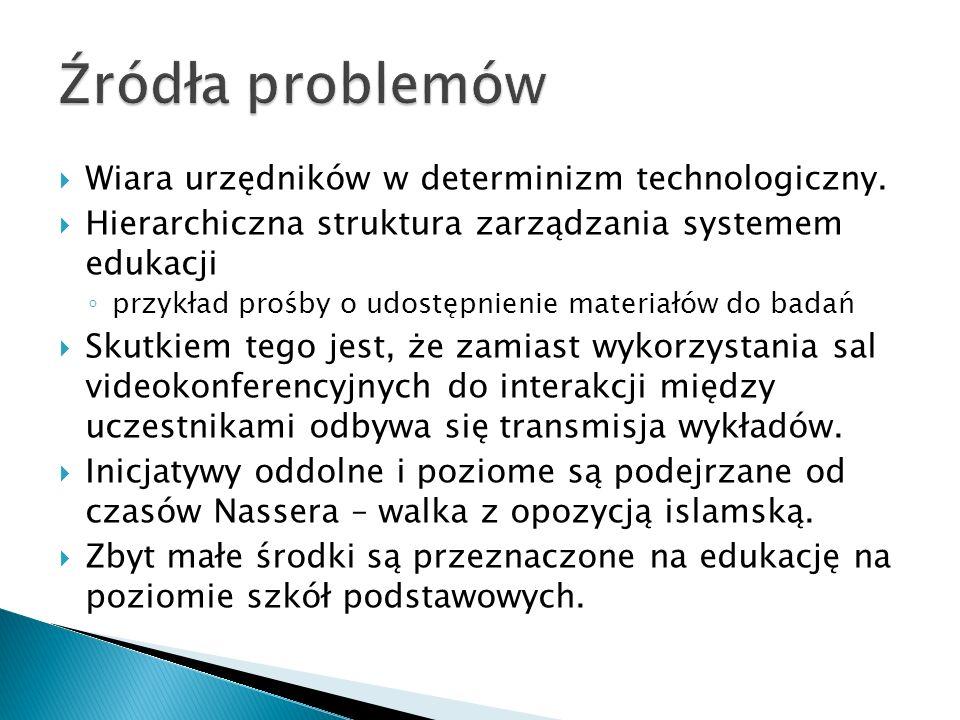 Wiara urzędników w determinizm technologiczny. Hierarchiczna struktura zarządzania systemem edukacji przykład prośby o udostępnienie materiałów do bad