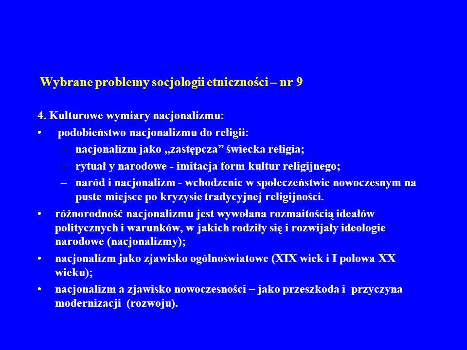 Wybrane problemy socjologii etniczności – nr 9 5.