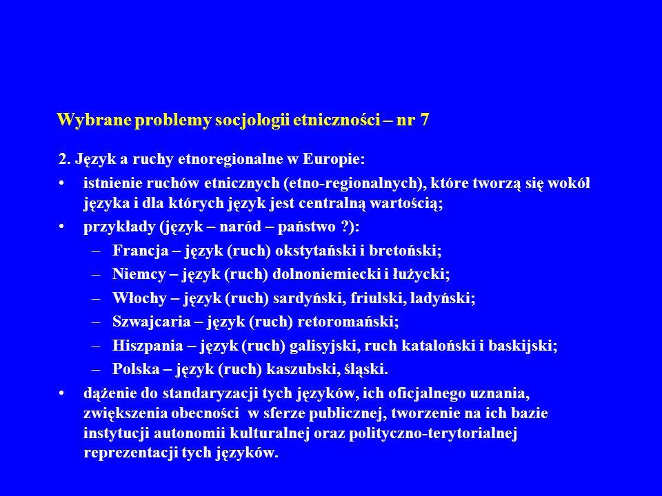 Wybrane problemy socjologii etniczności – nr 7 3.