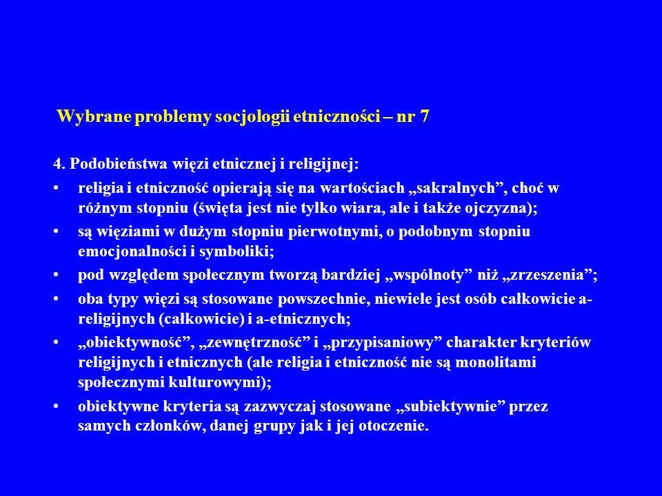 Wybrane problemy socjologii etniczności – nr 7 5.