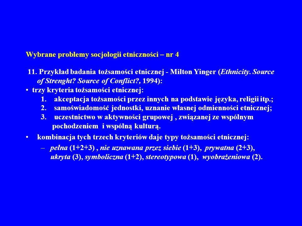 Wybrane problemy socjologii etniczności – nr 4 11.