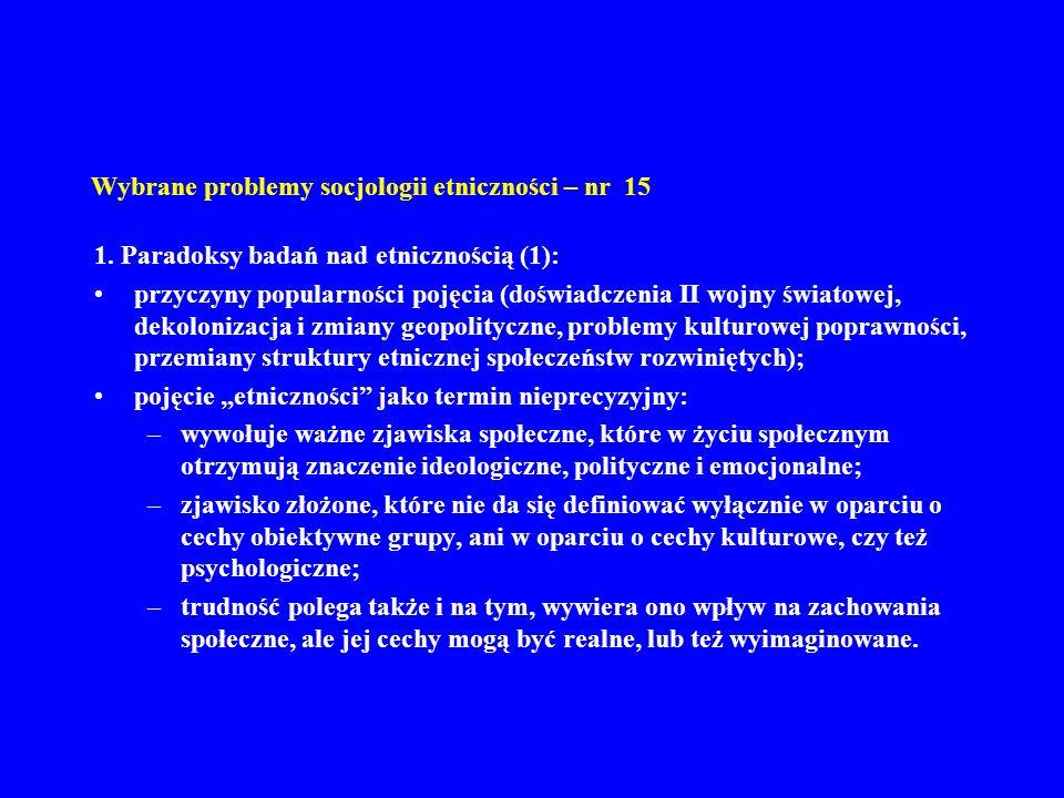 Wybrane problemy socjologii etniczności – nr 15 1.