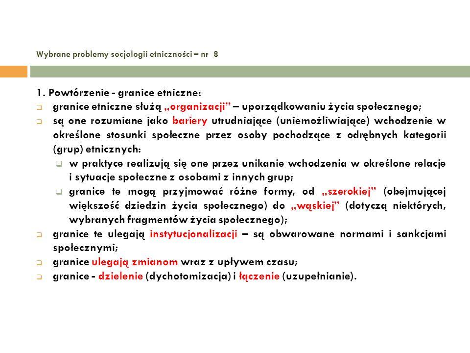 Wybrane problemy socjologii etniczności – nr 8 12.