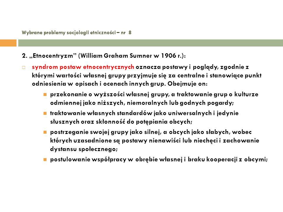 Wybrane problemy socjologii etniczności – nr 8 13.