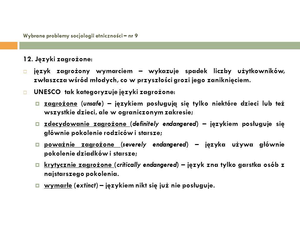 Wybrane problemy socjologii etniczności – nr 9 12.