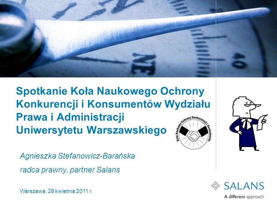 Spotkanie Koła Naukowego Ochrony Konkurencji i Konsumentów Wydziału Prawa i Administracji Uniwersytetu Warszawskiego Agnieszka Stefanowicz-Barańska ra
