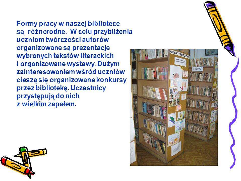 Dwa razy w tygodniu odbywają się w bibliotece zajęcia koła MÓL KSIĄŻKOWY.