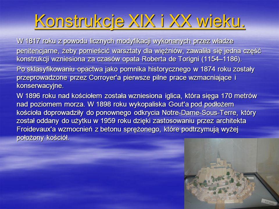 Konstrukcje XIX i XX wieku. Konstrukcje XIX i XX wieku. W 1817 roku z powodu licznych modyfikacji wykonanych przez władze penitencjarne, żeby pomieści