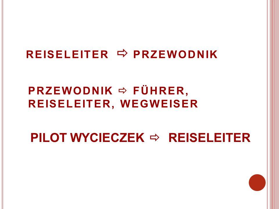 REISELEITER PRZEWODNIK PRZEWODNIK FÜHRER, REISELEITER, WEGWEISER PILOT WYCIECZEK REISELEITER