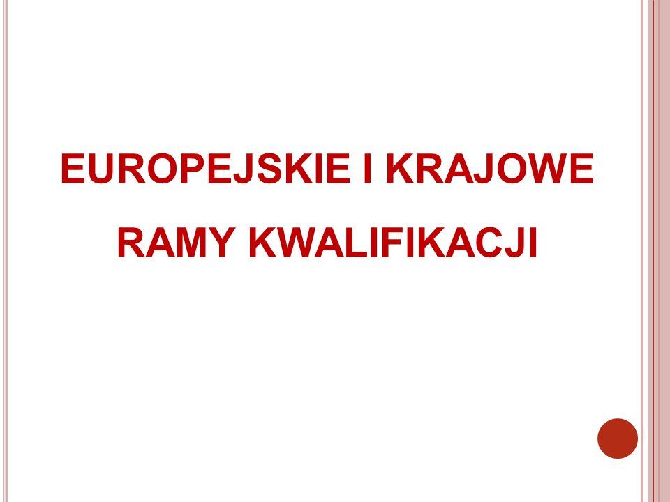 EUROPEJSKIE I KRAJOWE RAMY KWALIFIKACJI