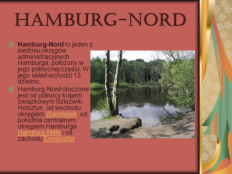 Hamburg-Nord Hamburg-Nord to jeden z siedmiu okręgów administracyjnych Hamburga, położony w jego północnej części. W jego skład wchodzi 13 dzielnic. H