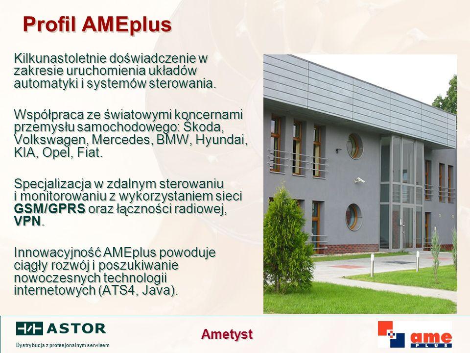 Dystrybucja z profesjonalnym serwisem Ametyst Profil AMEplus Kilkunastoletnie doświadczenie w zakresie uruchomienia układów automatyki i systemów sterowania.