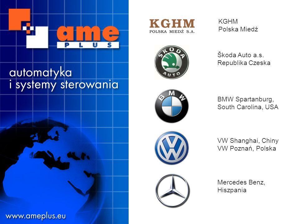 Dystrybucja z profesjonalnym serwisemAutomatyka i systemy sterowania Mercedes Benz, Hiszpania VW Shanghai, Chiny VW Poznań, Polska Škoda Auto a.s.