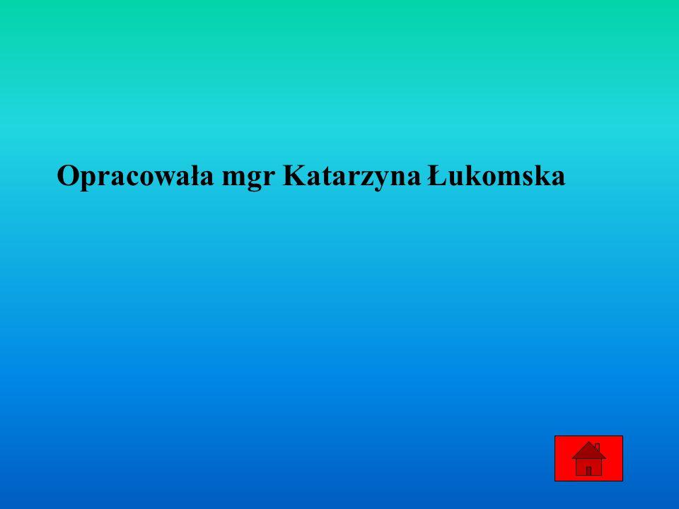 Opracowała mgr Katarzyna Łukomska