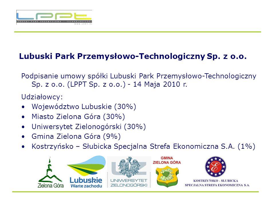 Lubuski Park Przemysłowo – Technologiczny – Lokalizacja W Nowym Kisielinie na obszarze Gminy Zielona Góra, W środku Lubuskiego Trójmiasta/ Aglomeracji Zielonogórskiej 4 km od drogi ekspresowej S3, ok.