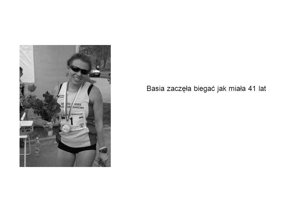 Basia zaczęła biegać jak miała 41 lat