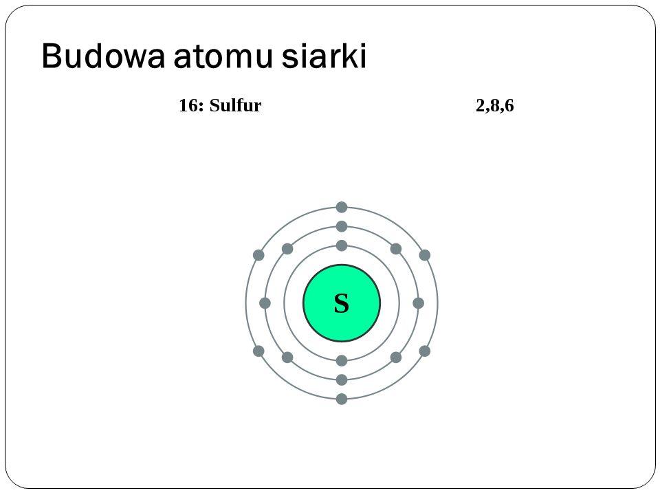 Budowa atomu siarki