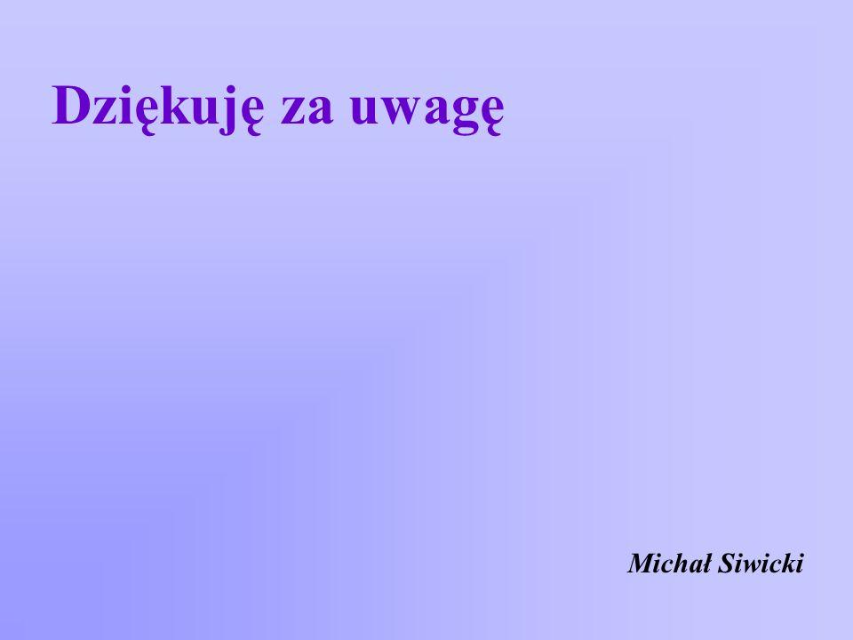 Dziękuję za uwagę Michał Siwicki