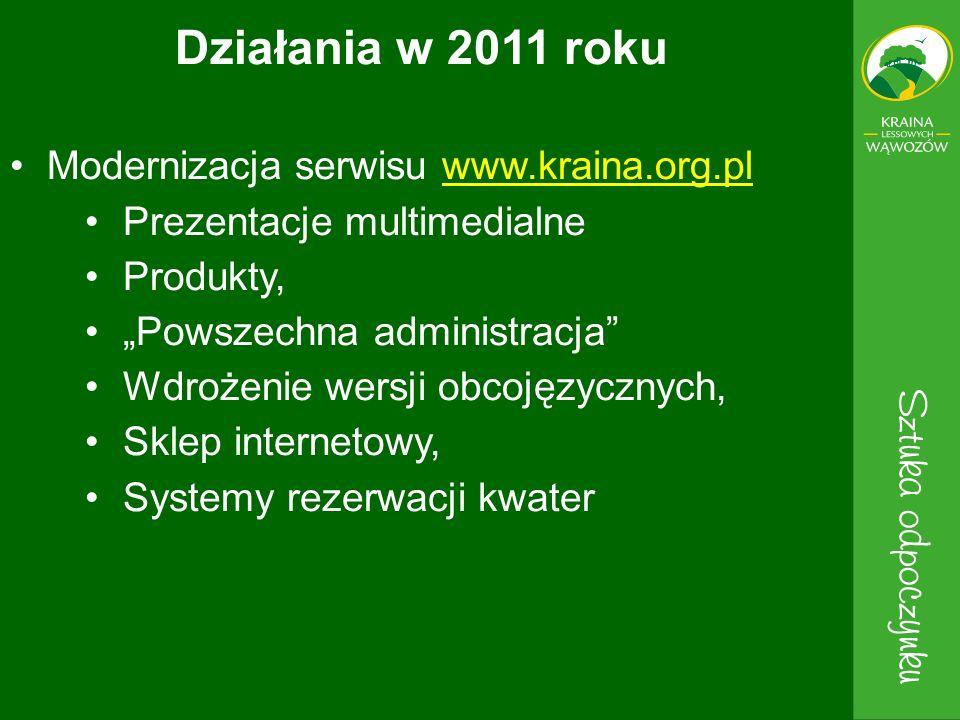 Modernizacja serwisu www.kraina.org.plwww.kraina.org.pl Prezentacje multimedialne Produkty, Powszechna administracja Wdrożenie wersji obcojęzycznych,