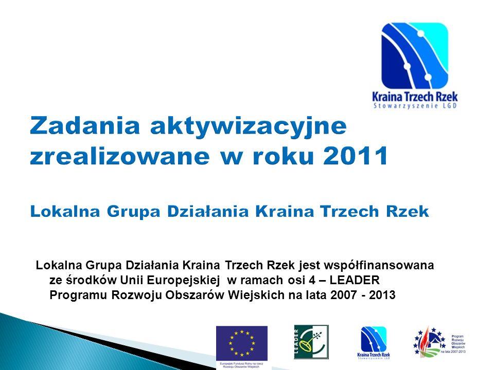 Lokalna Grupa Działania Kraina Trzech Rzek jest współfinansowana ze środków Unii Europejskiej w ramach osi 4 – LEADER Programu Rozwoju Obszarów Wiejskich na lata 2007 - 2013