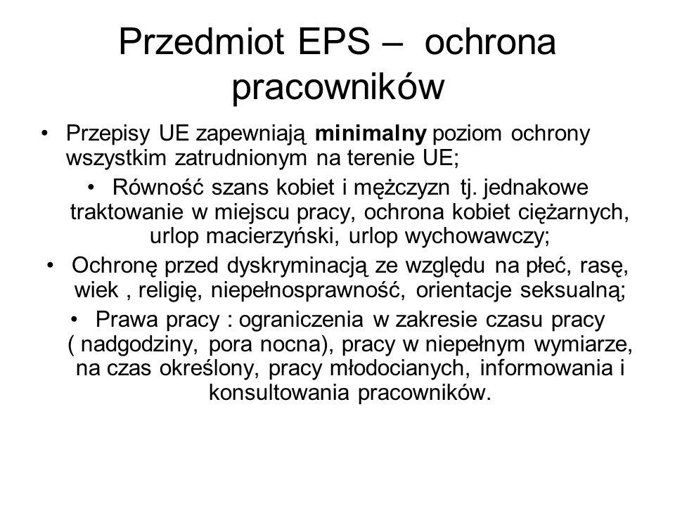 Przedmiot EPS – swobodny przepływ obywateli Zapewnia go art..
