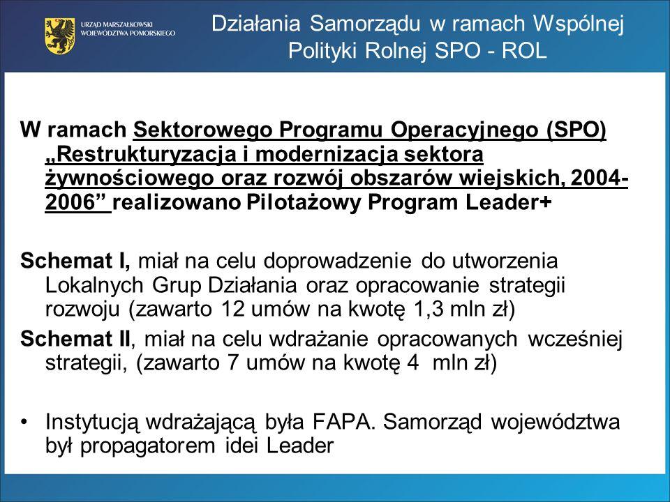 W ramach Sektorowego Programu Operacyjnego (SPO) Restrukturyzacja i modernizacja sektora żywnościowego oraz rozwój obszarów wiejskich, 2004- 2006 real