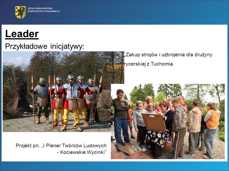 Leader Przykładowe inicjatywy: Zakup strojów i uzbrojenia dla drużyny rycerskiej z Tuchomia Projekt pn. I Plener Twórców Ludowych - Kociewskie Wycinki