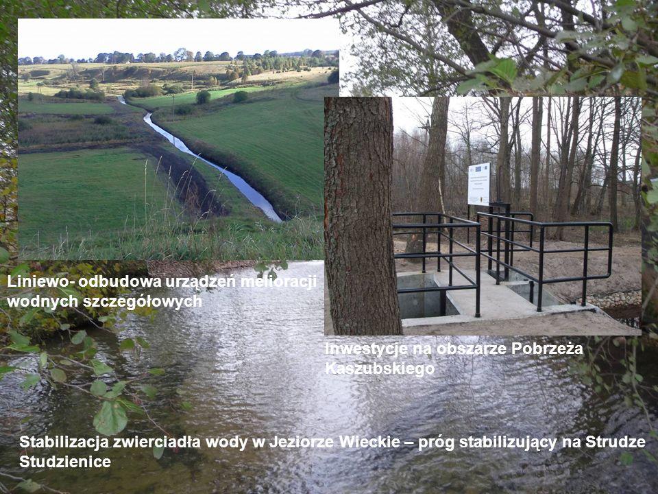 Stabilizacja zwierciadła wody w Jeziorze Wieckie – próg stabilizujący na Strudze Studzienice Liniewo- odbudowa urządzeń melioracji wodnych szczegółowy