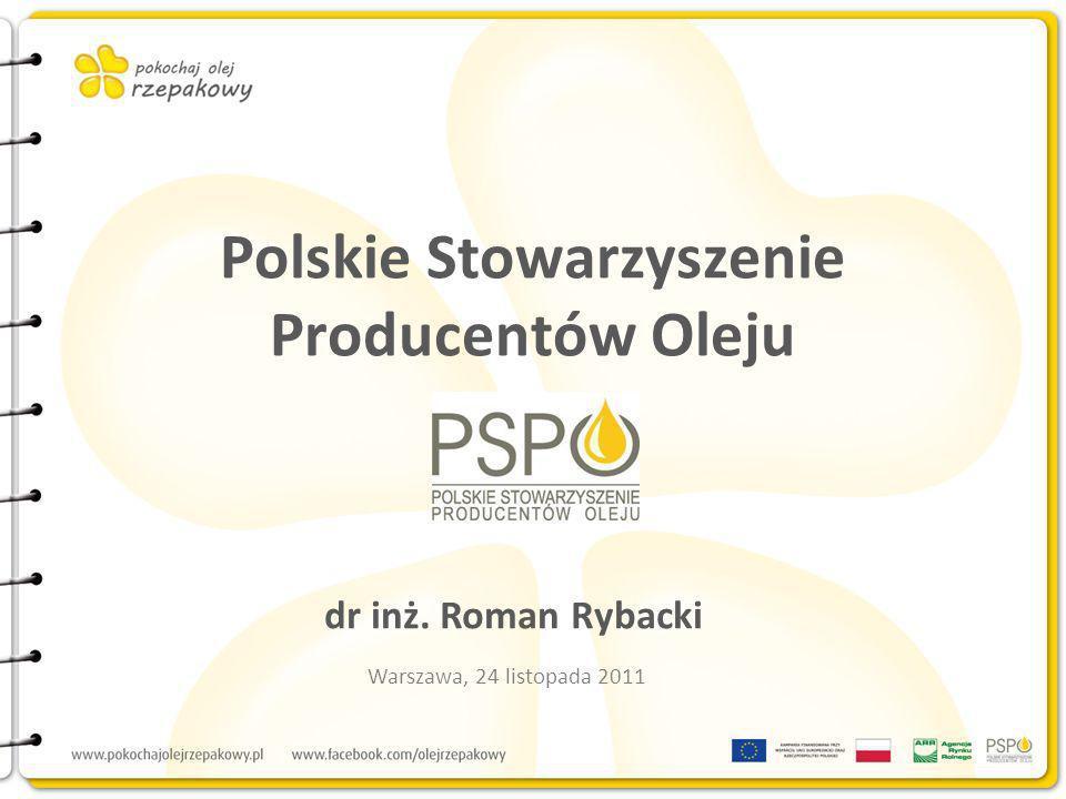 Polskie Stowarzyszenie Producentów Oleju dr inż. Roman Rybacki Warszawa, 24 listopada 2011